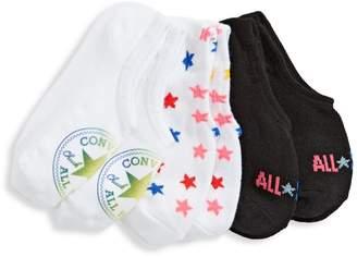 Converse 3-Pack No-Show Rainbow Sock Set
