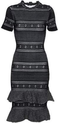 Raoul Fluted Metallic Cotton-Blend Dress