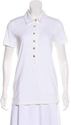 Tory Burch Short Sleeve Polo Top