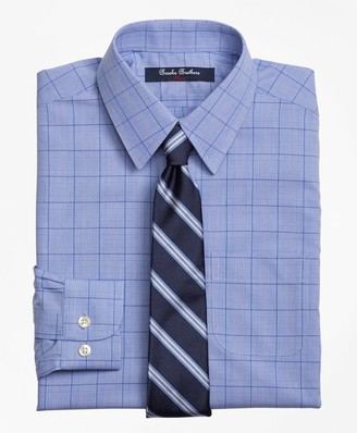 Brooks Brothers Non-Iron Supima Cotton Broadcloth Plaid Dress Shirt