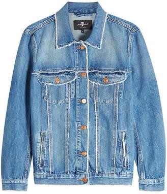 7 For All Mankind Oversize Modern Trucker Denim Jacket