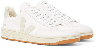 Veja V-12 Leather and Rubber-Trimmed Suede and B-Mesh Sneakers - Men - White