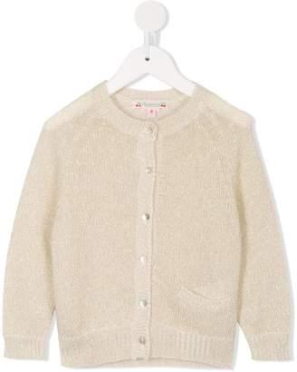 Bonpoint metallic thread knitted cardigan
