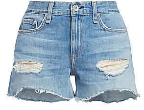 Rag & Bone Women's Dre Low-Rise Distressed Denim Cut-Off Shorts