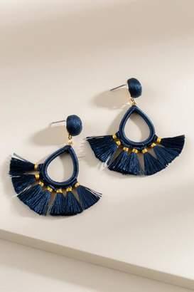 francesca's Ember Tassel Earrings in Pine - Pine