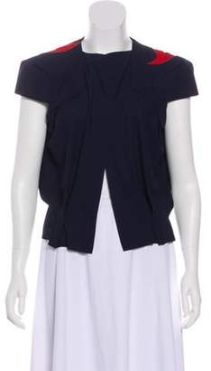 Roland Mouret Structured Open Front Cardigan Blue Structured Open Front Cardigan