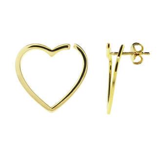 FINE JEWELRY Sechic 14K Gold Heart Ear Pins