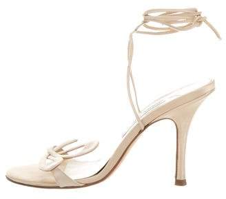 Jimmy Choo Satin Lace-Up Sandals