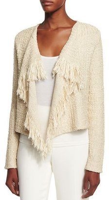Ralph Lauren Collection Long-Sleeve Draped-Front Cardigan, Sand $1,690 thestylecure.com
