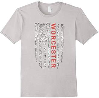 American City State Worcester T-shirt Proud USA Tee Shirts