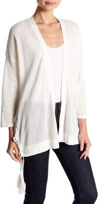 Vince Camuto Pointelle Side Lace-Up Cardigan (Regular and Petite)