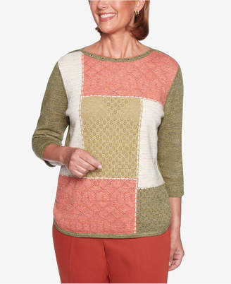 Alfred Dunner Autumn In New York Colorblocked Sweater