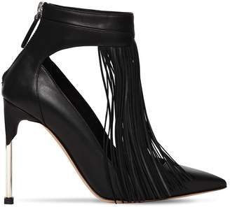 Alexander McQueen 105mm Fringed Leather Pumps