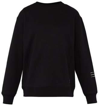 Moncler 7 Fragment - Crew Neck Cotton Sweatshirt - Mens - Black