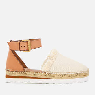 5e42912f6c27 See by Chloe Women s Glyn Canvas Espadrille Flat Sandals - Natural