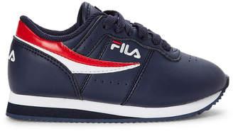 Fila Toddler/Kids Boys) Navy & Red Machu Low-Top Sneakers