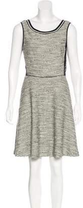 Jonathan Simkhai Tweed Lace-Accented Dress
