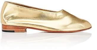 "Martiniano Women's ""Glove"" Metallic Leather Flats"
