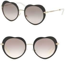 Miu Miu 52MM Heart Sunglasses