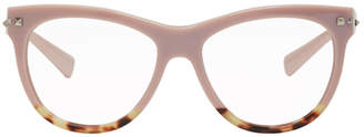 Valentino Pink Garavani Sartorial Rockstud Glasses