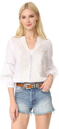 Temptation Positano Embroidered Blouse $385 thestylecure.com