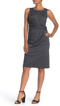 &.Layered Sleeveless Draped Knit Dress