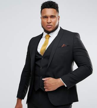 Asos Design DESIGN Plus skinny suit jacket in black