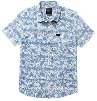 RVCA Flower Block Short Sleeve Shirt (Big Boys)