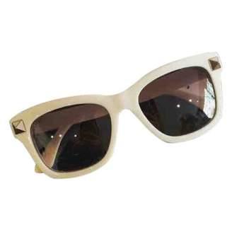 Valentino Ecru Plastic Sunglasses