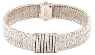 Roberto Coin 18K Diamond Mesh Bracelet