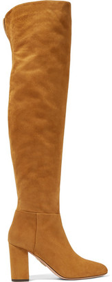 London Suede Over-the-knee Boots - Camel