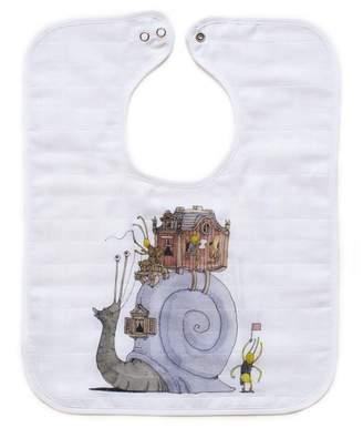 Atelier Choux Snail Riding - Large Bib