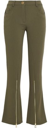 Moschino Zip-Detailed Crepe Flared Pants