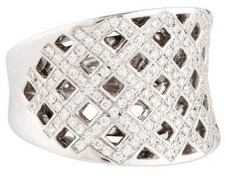 Ring 18K Diamond Crisscross Band