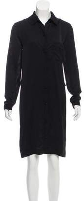 Lanvin Long Sleeve Knee-Length Dress