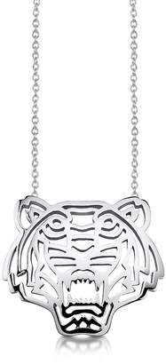 Kenzo Sterling Silver Cut Out Tiger Necklace