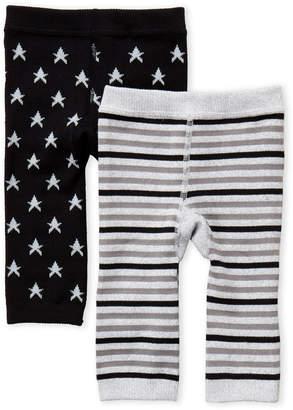 Cuddl Duds Newborn/Infant) Two-Pack Knit Leggings