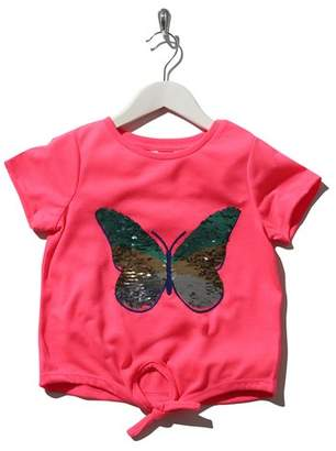M&Co Two way sequin butterfly tie front top
