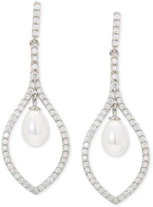 Giani Bernini Imitation Pearl & Cubic Zirconia Drop Earrings in Sterling Silver