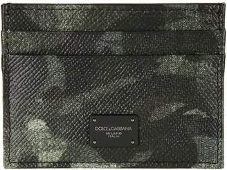 Dolce & Gabbana Camouflage Logo Card Holder