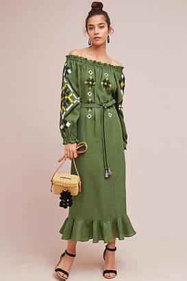 Vyshyvanka by Sleeping Gypsy Clarisse Off-The-Shoulder Peasant Dress
