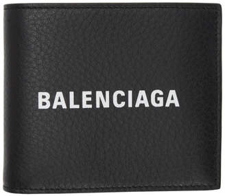 Balenciaga (バレンシアガ) - Balenciaga ブラック エブリデイ ロゴ スクエア ウォレット