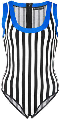 David Koma contrast trim striped body