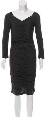 Stella McCartney Ruched Long Sleeve Dress