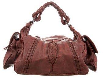 Bottega VenetaBottega Veneta Intrecciato-Trimmed Hobo Bag
