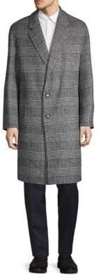 Glen Plaid Wool Coat