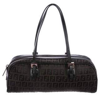 039557bb7be4 ... czech pre owned at therealreal fendi zucchino canvas handle bag 866fd  950a2