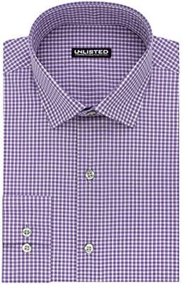Kenneth Cole Reaction Kenneth Cole Unlisted Men's Slim Fit Check Spread Collar Dress Shirt