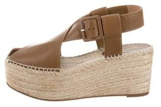 Celine Nappa Espadrille Wedges w/ Tags