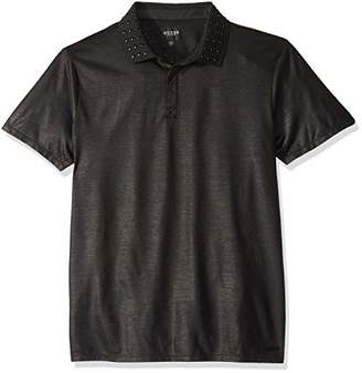GUESS Men's Short Sleeve Mason Stud Polo Shirt
